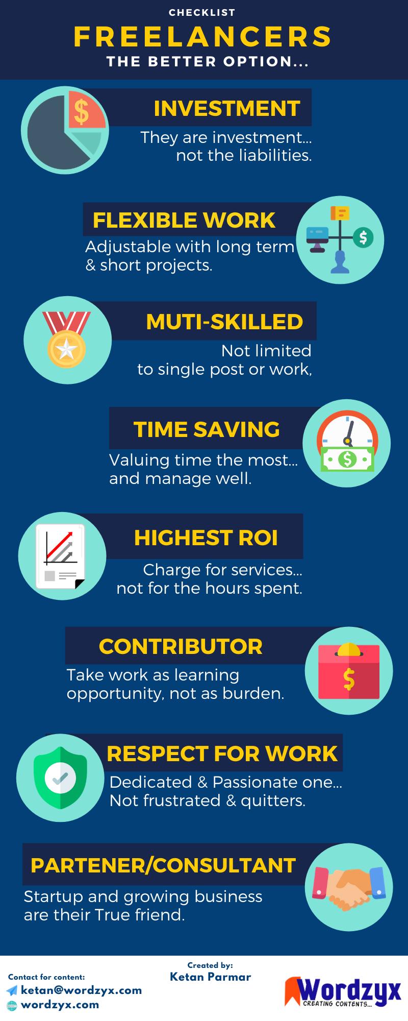 benefits of freelancers, freelancers advantages