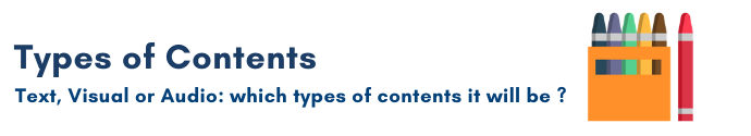 Types of contents, Content planning