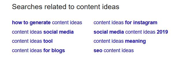 LSI Keywords, content idea generation
